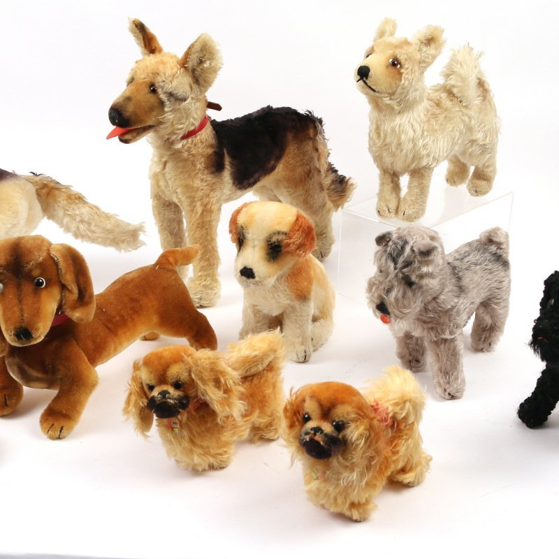 (10pc) STEIFF STUFFED DOGS - 3