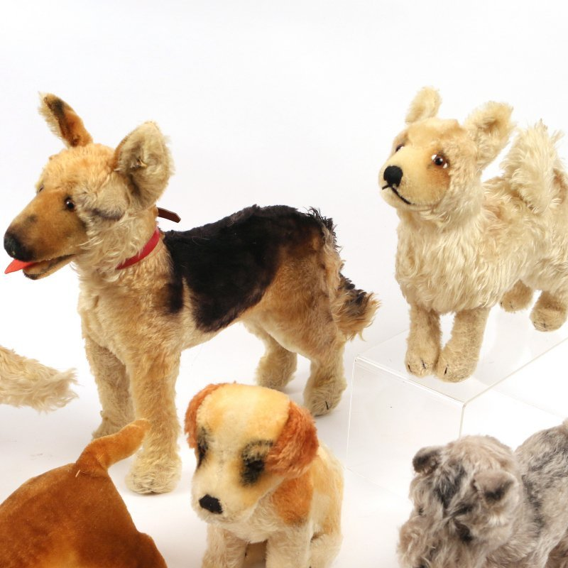 (10pc) STEIFF STUFFED DOGS - 7