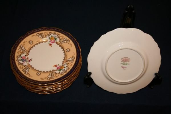 325G: SET 11 REAL CAULDRON PLATES, RETAILER TIFFANY & C