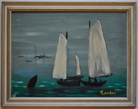 Folk Art Maritime Painting 1963