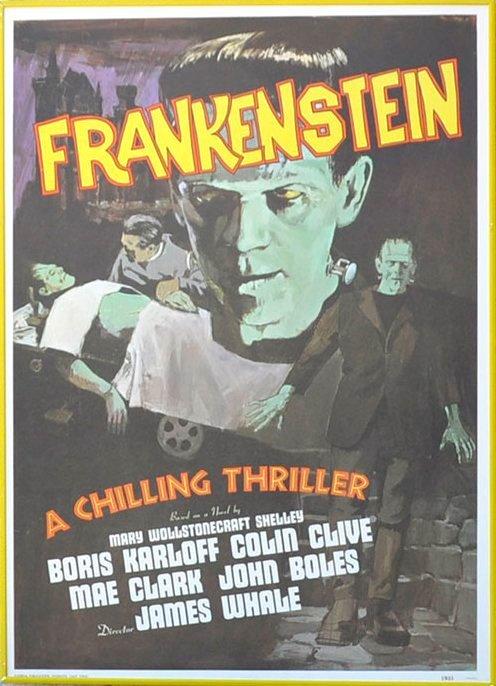 Vintage Frankenstein Movie Poster
