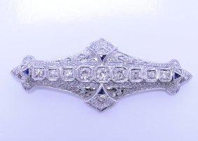 Antique Filigree Edwardian Diamond Brooch / Pendant