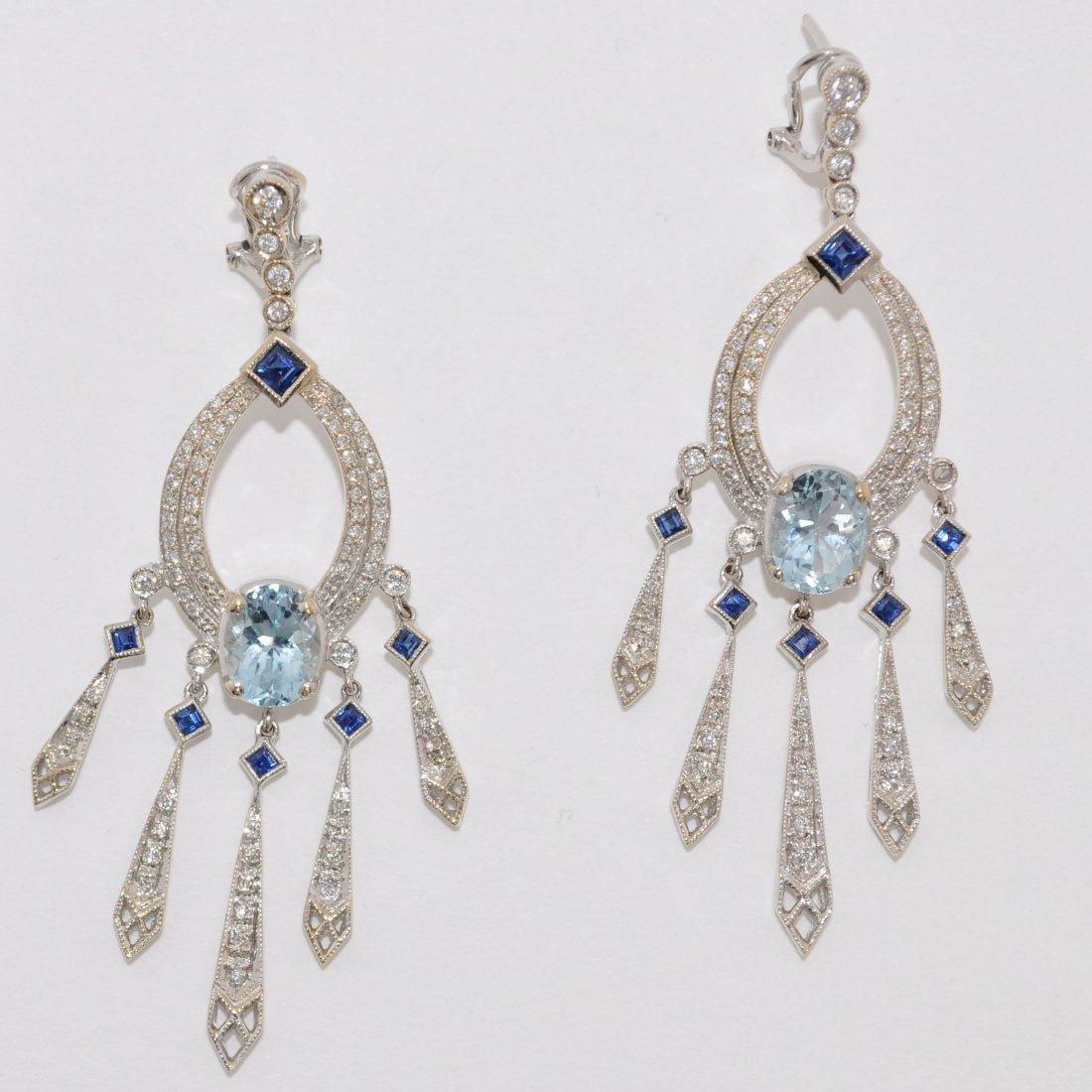 Exquisite Diamond & Topaz Fringe Earrings