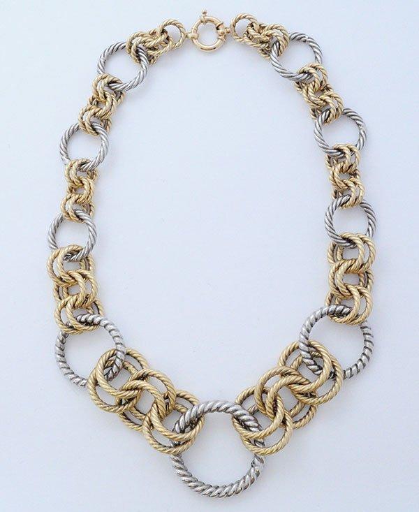 Beautiful Italian 14kt. Gold Twist Necklace