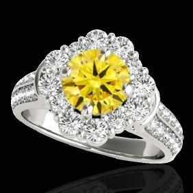 2.81 CTW Certified Si Fancy Intense Yellow Diamond