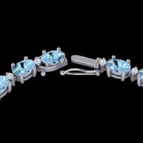 37.5 CTW Aquamarine & VS/SI Certified Diamond Eternity