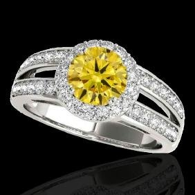 1.6 CTW Certified Si Fancy Intense Yellow Diamond