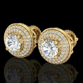 2.35 CTW VS/SI Diamond Solitaire Art Deco Stud Earring