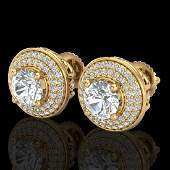 235 CTW VSSI Diamond Solitaire Art Deco Stud Earring