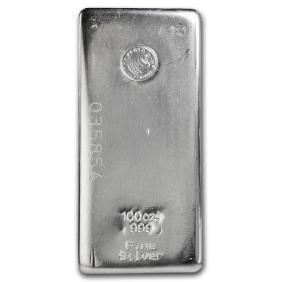 One piece 100 oz 0.999 Fine Silver Bar Perth Mint