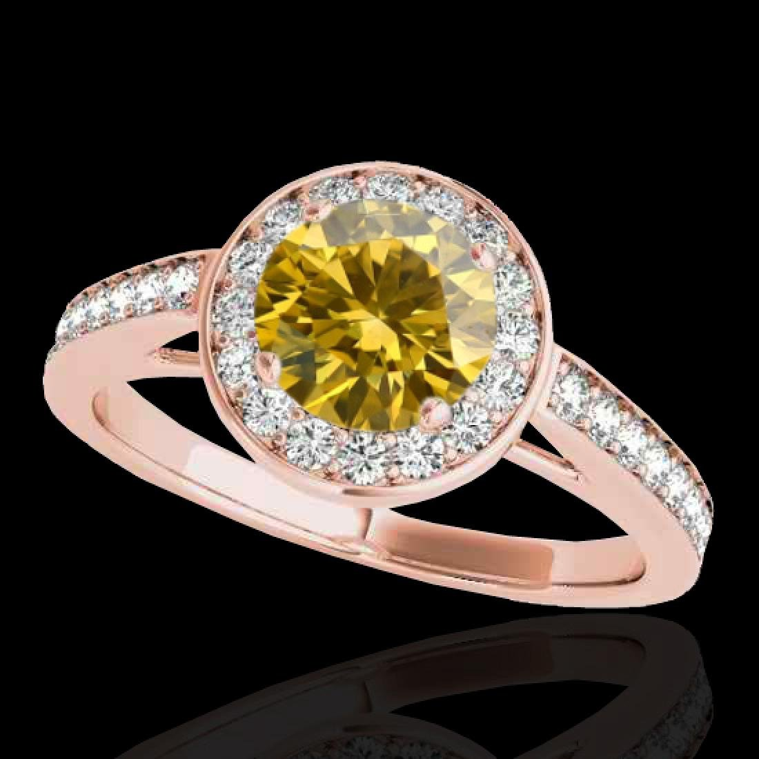 1.45 CTW Certified Si Fancy Intense Yellow Diamond