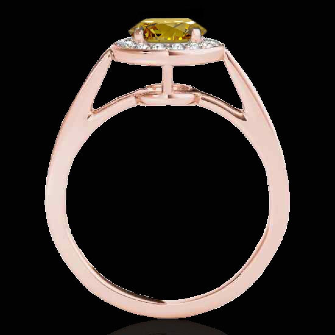 1.45 CTW Certified Si Fancy Intense Yellow Diamond - 2