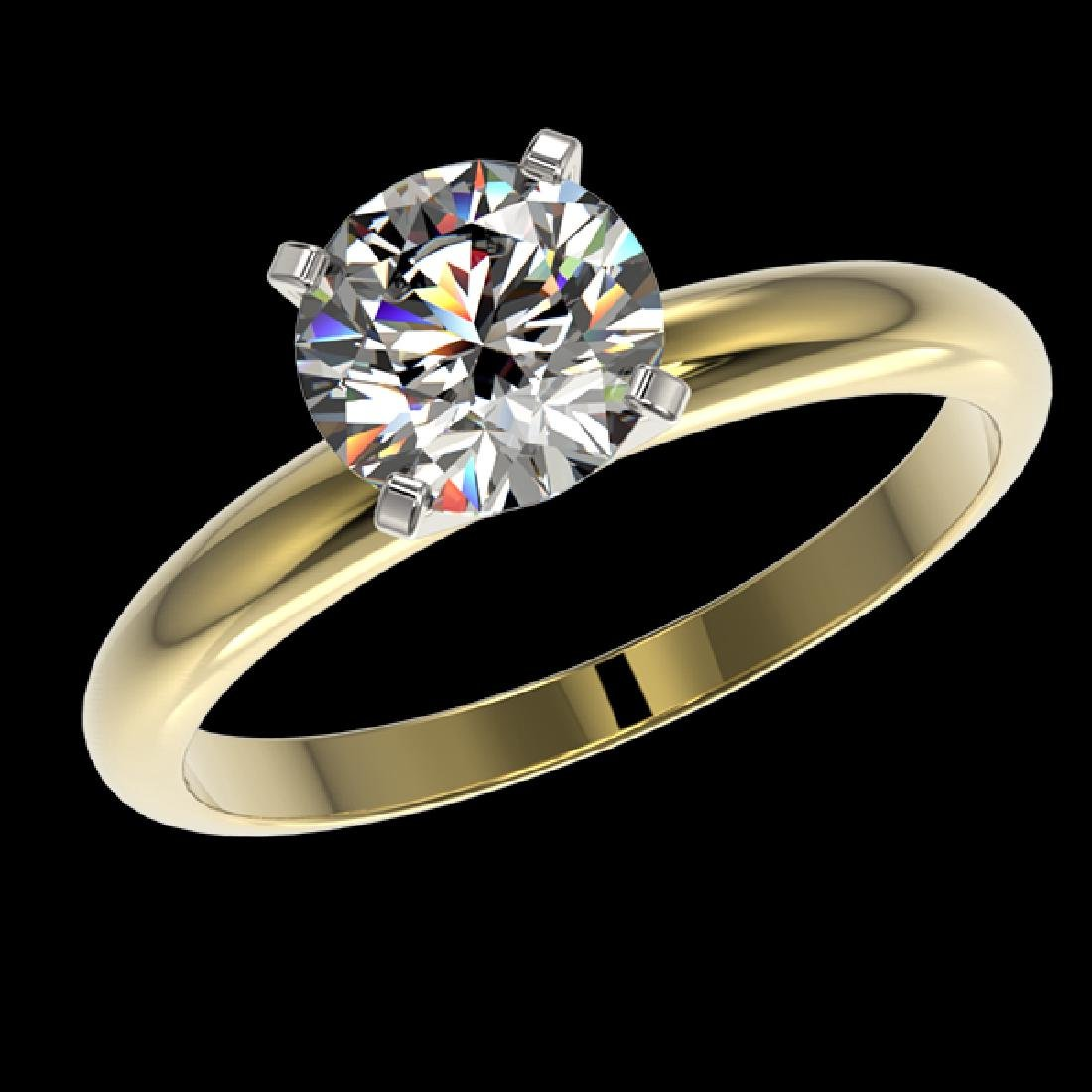 1.57 CTW Certified G-Si Quality Diamond Solitaire - 2