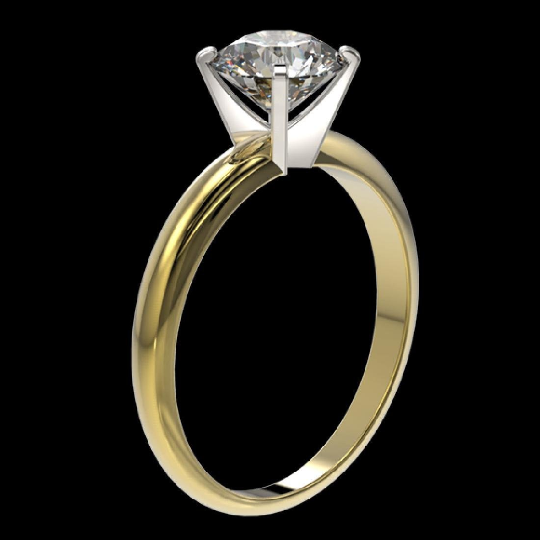 1.57 CTW Certified G-Si Quality Diamond Solitaire - 3