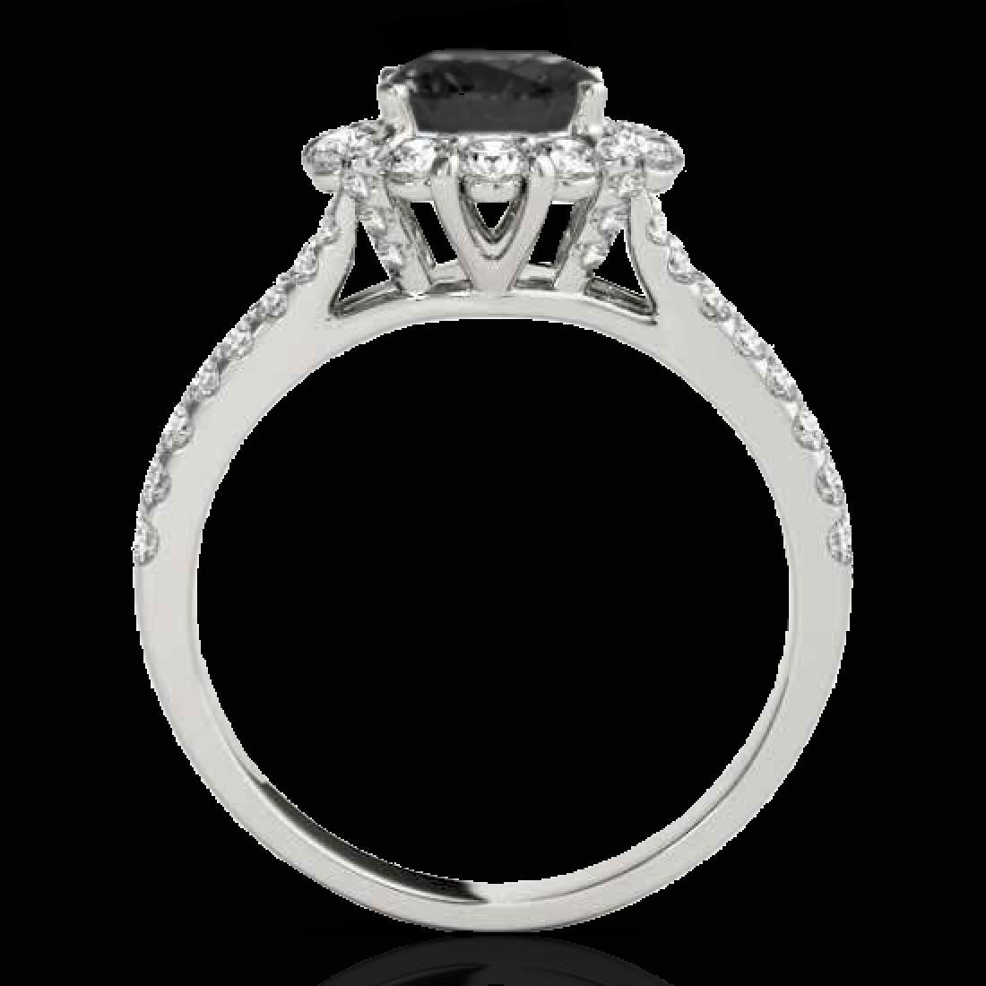 2.01 CTW Certified Vs Black Diamond Bridal Solitaire - 2