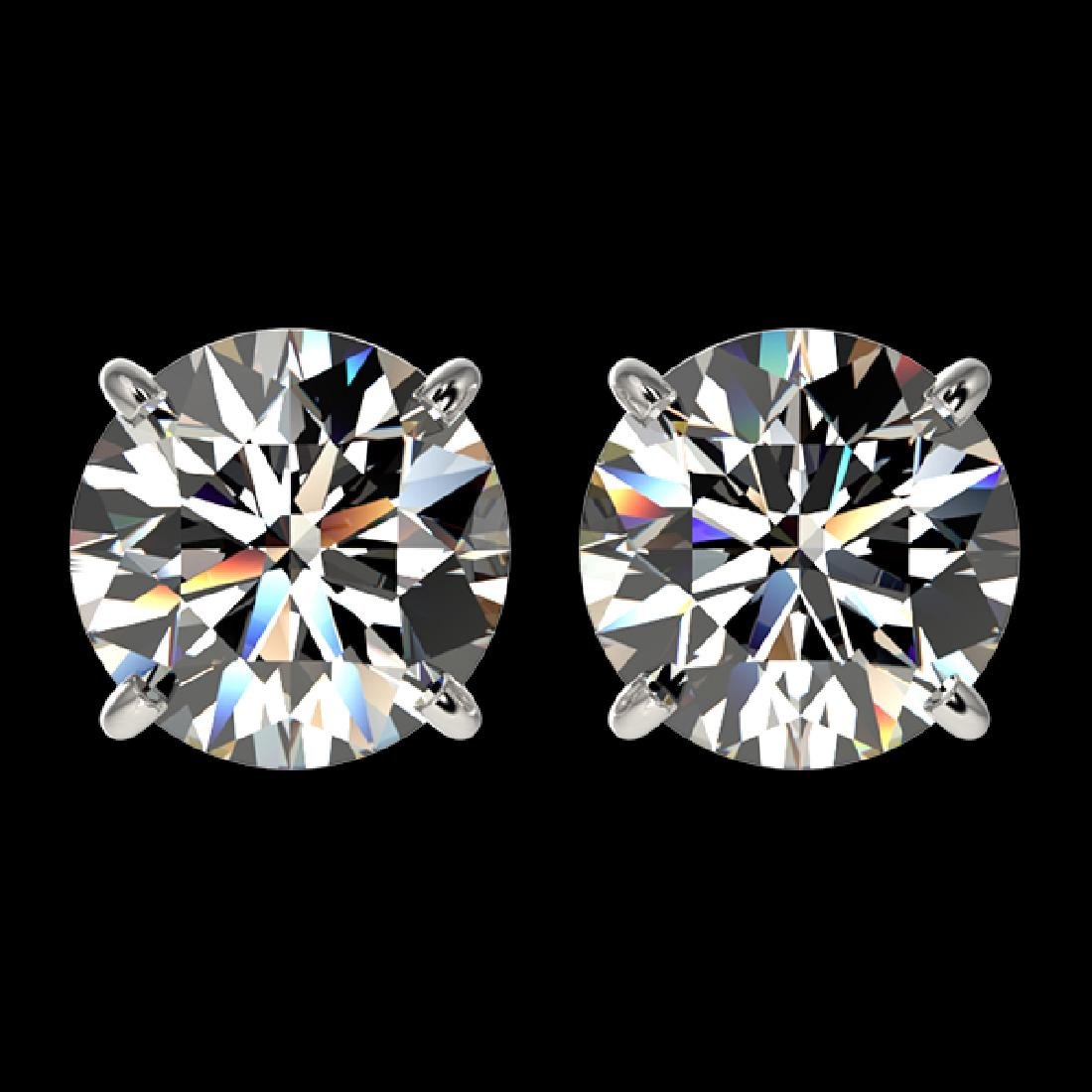2.55 CTW Certified G-Si Quality Diamond Solitaire Stud