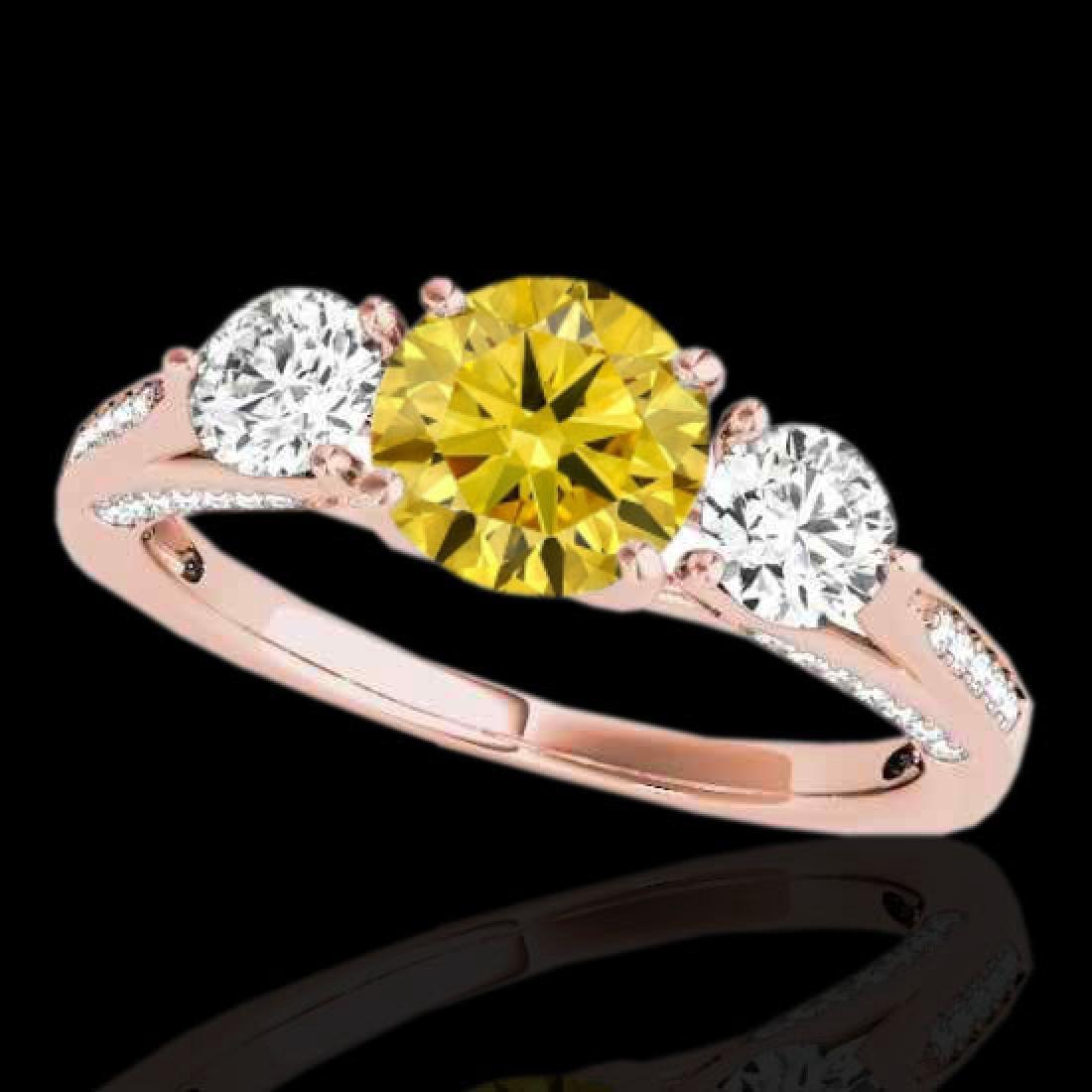 1.75 CTW Certified Si Fancy Intense Yellow Diamond 3