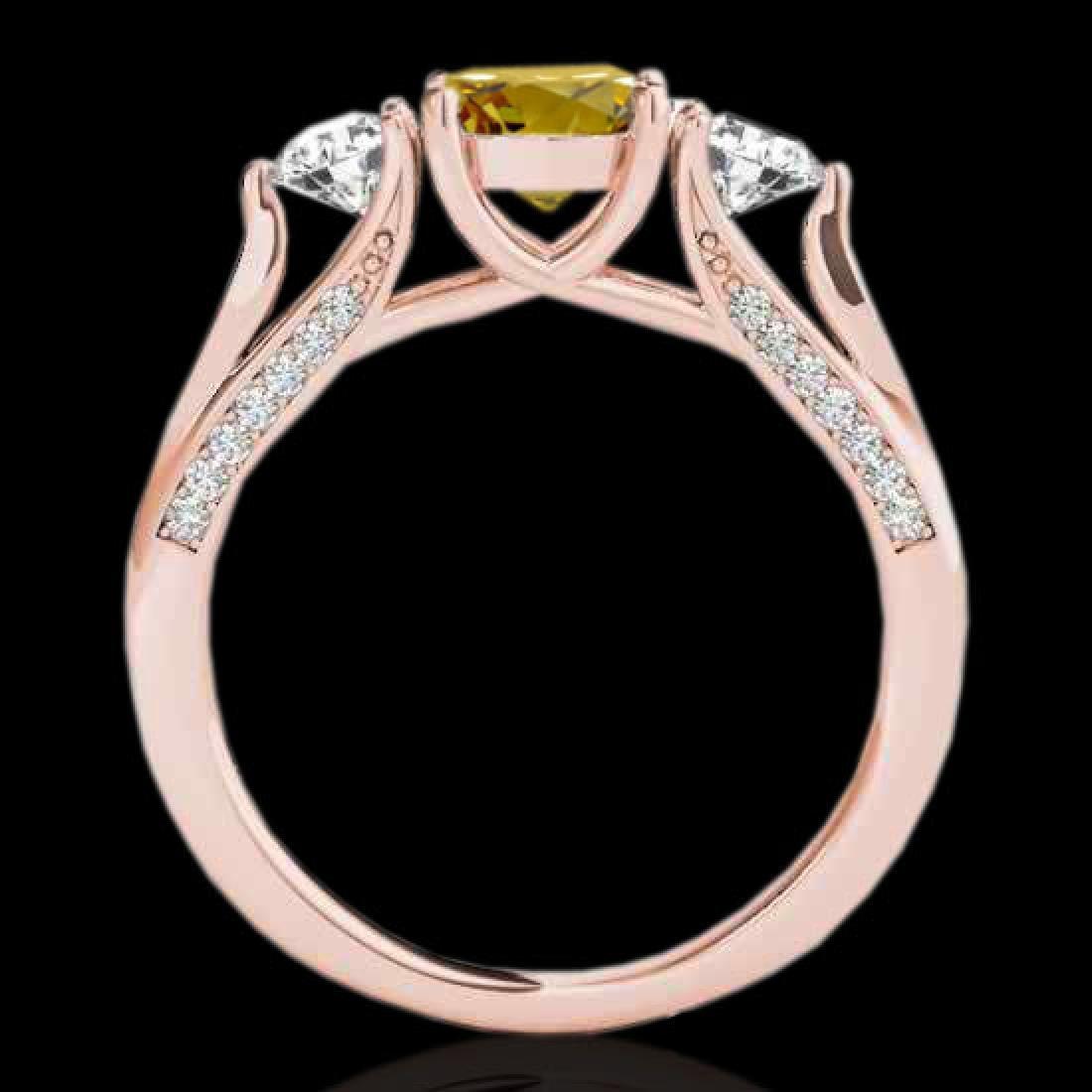 1.75 CTW Certified Si Fancy Intense Yellow Diamond 3 - 2