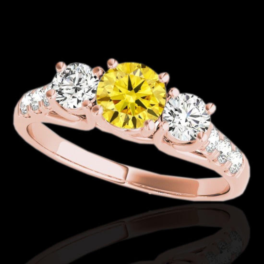 3.25 CTW Certified Si Fancy Intense Yellow Diamond 3