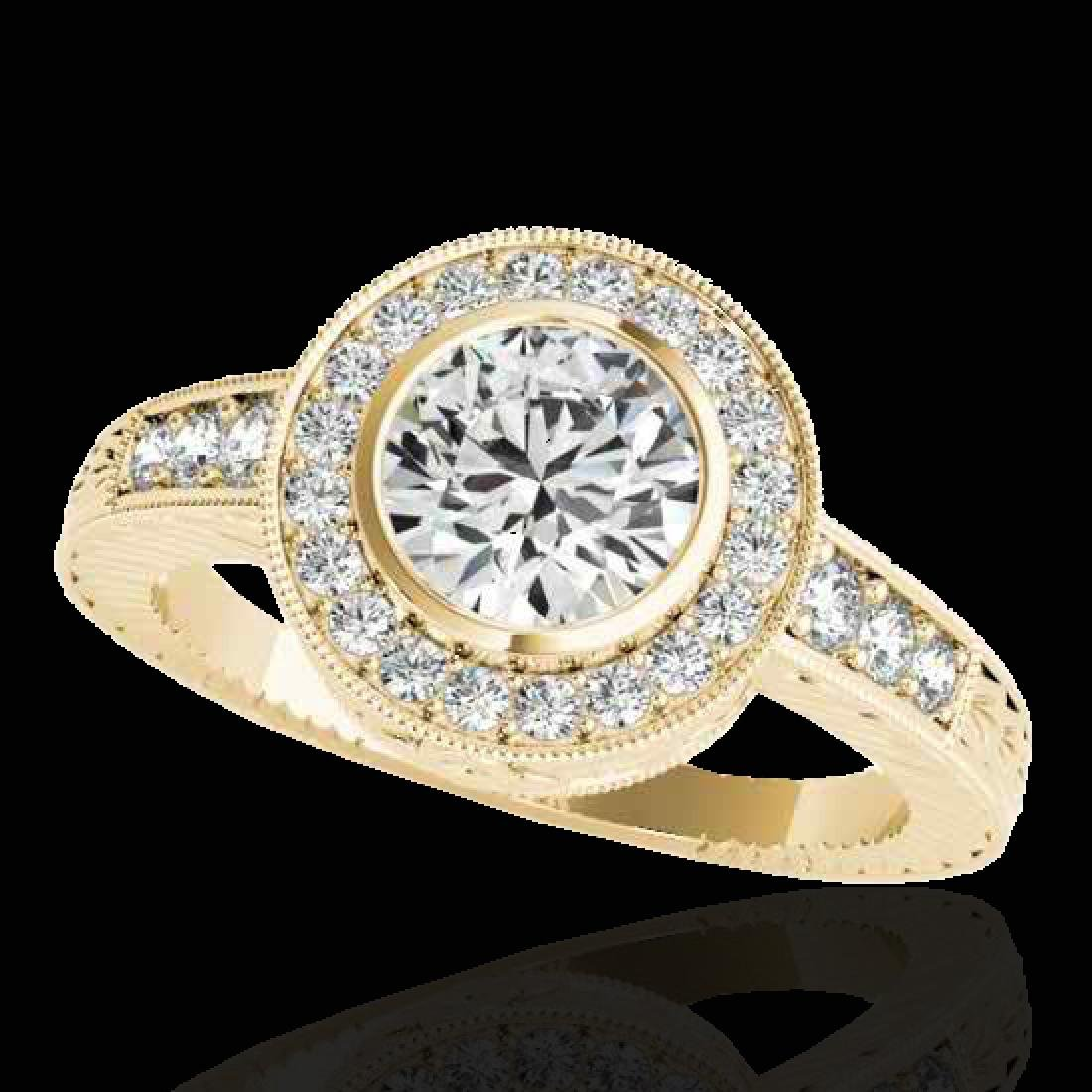 2 CTW G-Si Certified Diamond Bridal Solitaire Halo Ring