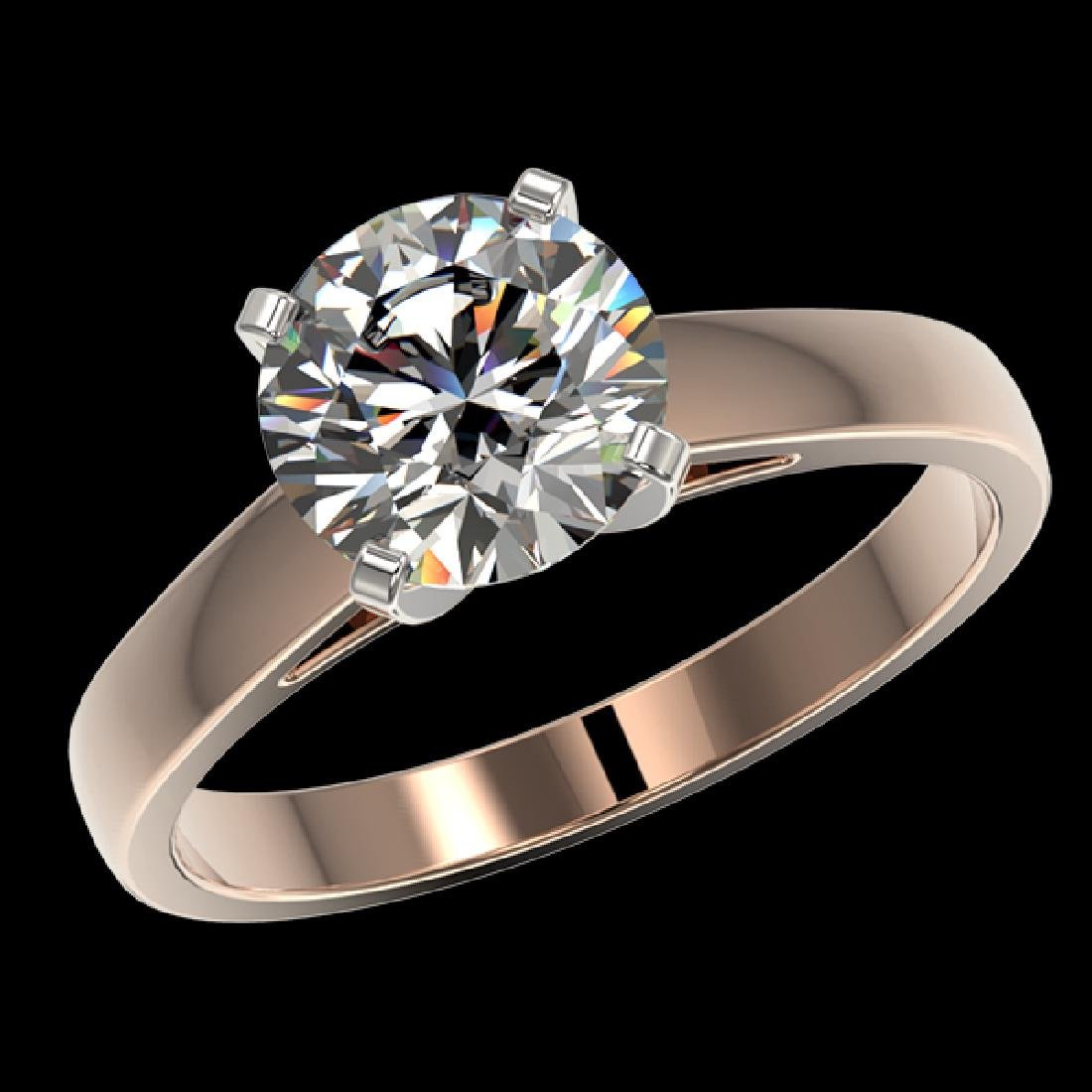 2.05 CTW Certified G-Si Quality Diamond Solitaire - 2
