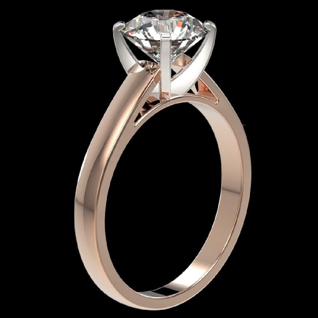 2.05 CTW Certified G-Si Quality Diamond Solitaire - 3