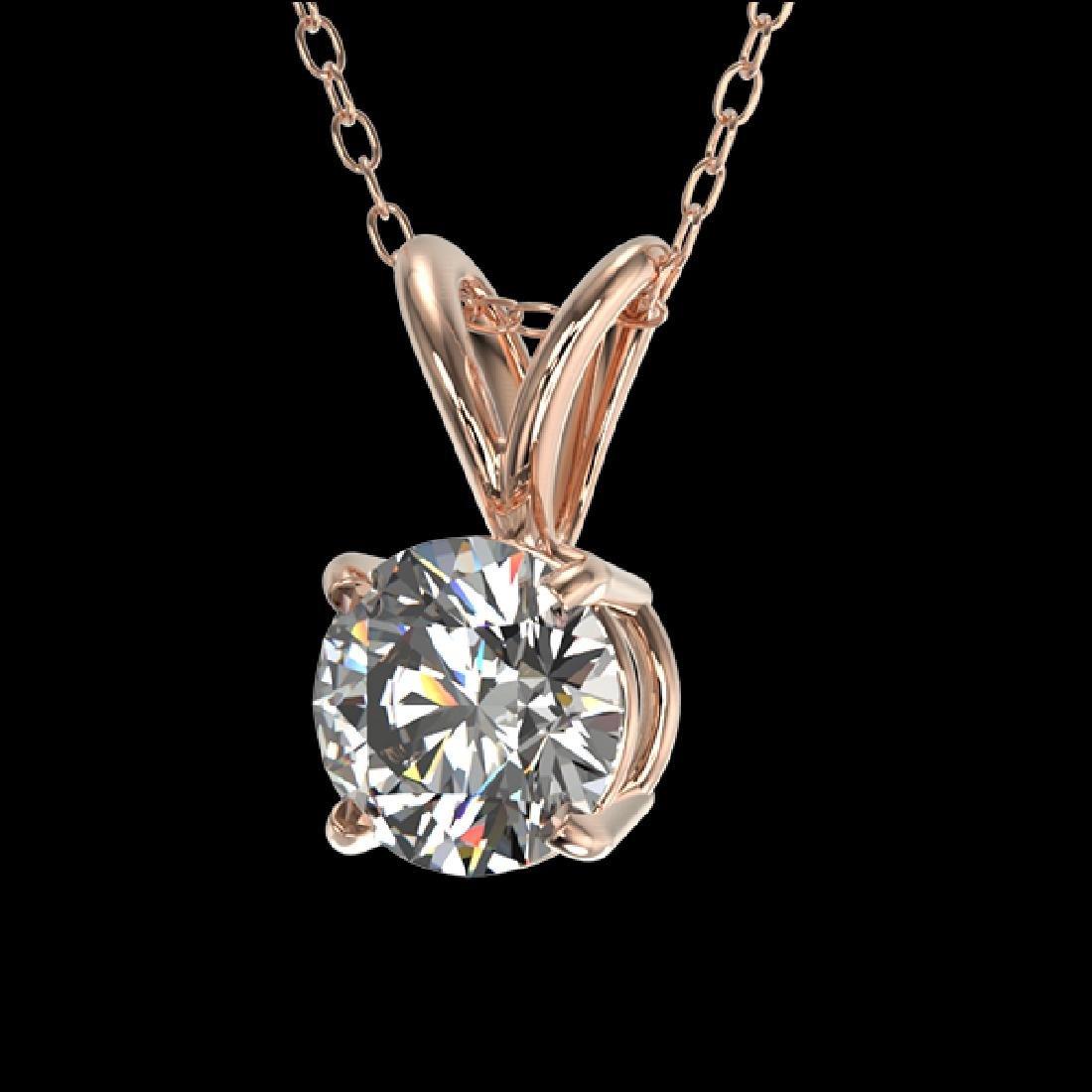 0.51 CTW Certified G-Si Quality Diamond Bridal - 2