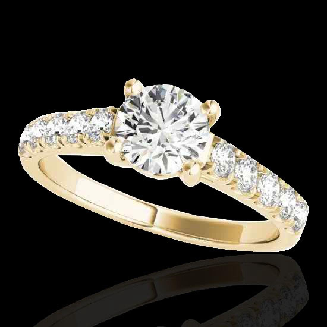 2.1 CTW G-Si Certified Diamond Bridal Solitaire Ring