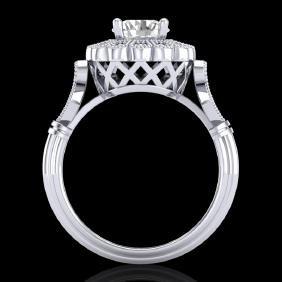 1.2 CTW VS/SI Diamond Bridal Solitaire Art Deco Ring
