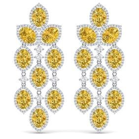 27.95 CTW Royalty Canary Citrine & VS Diamond Earring