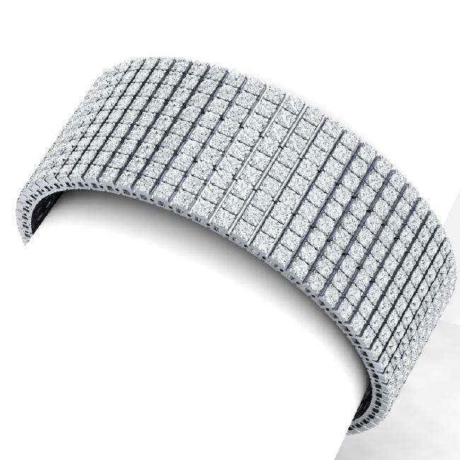 40 CTW Certified VS/SI Diamond Bracelet 18K White Gold