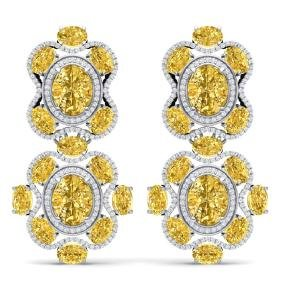 29.21 CTW Royalty Canary Citrine & VS Diamond Earring