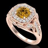 175 CTW Intense Fancy Yellow Diamond Engagement Art