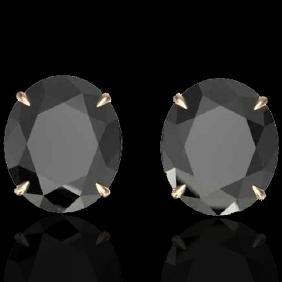 18 CTW Black VS/SI Diamond Certified Designer Stud