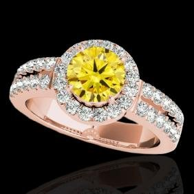 1.5 CTW Certified Si Fancy Intense Yellow Diamond