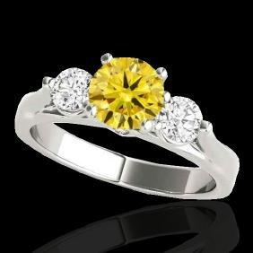 1.5 CTW Certified Si Fancy Intense Yellow Diamond 3