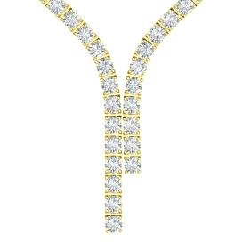 40 CTW Certified SI/I Diamond Necklace 18K Yellow Gold