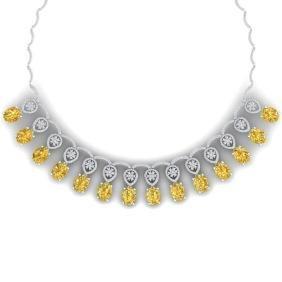 53.57 CTW Royalty Canary Citrine & VS Diamond Necklace
