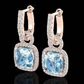 7 CTW Sky Blue Topaz Micro Pave VSSI Diamond