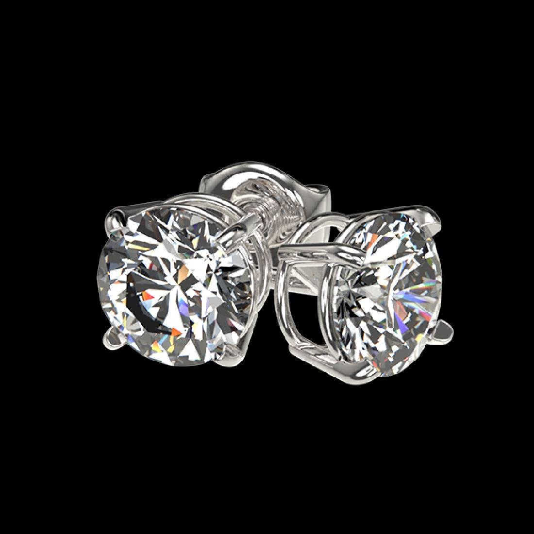 1 CTW Certified H-SI/I Quality Diamond Solitaire Stud - 4