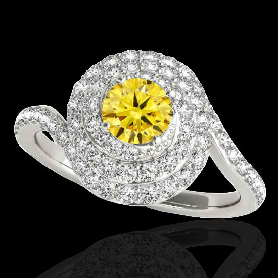 2.11 CTW Certified Si Fancy Intense Yellow Diamond