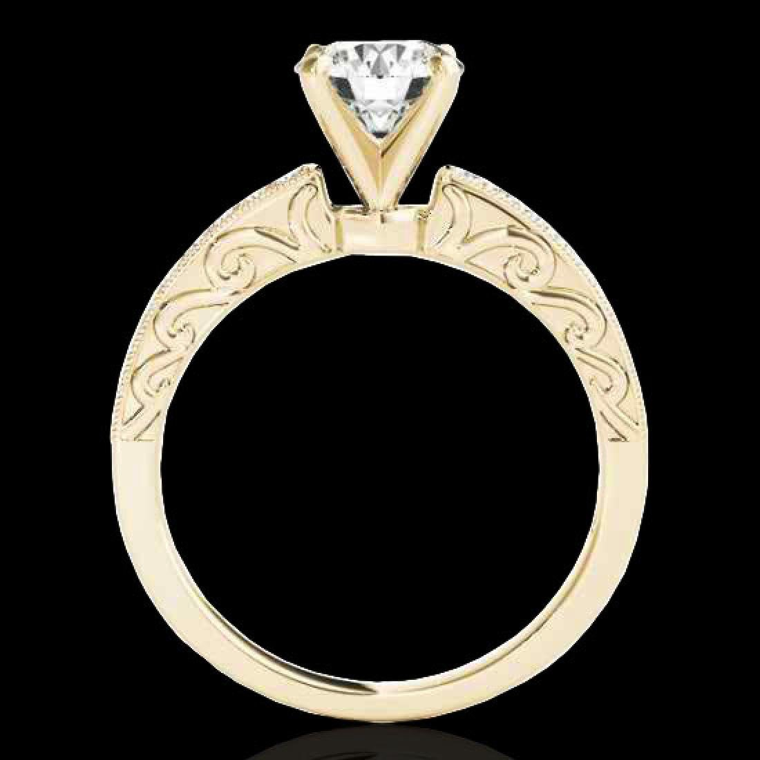 1.43 CTW H-SI/I Certified Diamond Solitaire Antique - 2