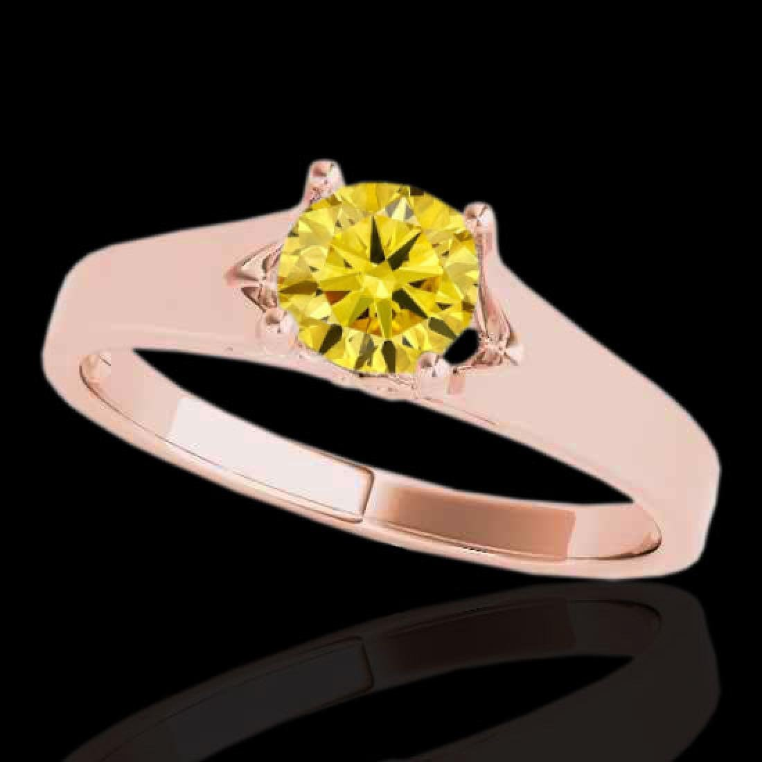 1.5 CTW Certified Si Fancy Intense Yellow Diamond