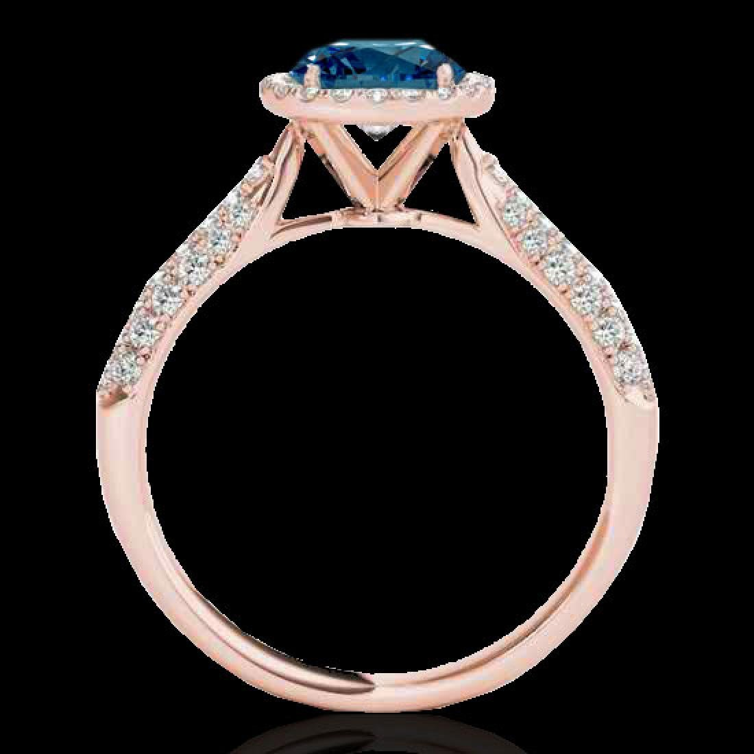 1.4 CTW SI Certified Fancy Blue Diamond Solitaire Halo - 2