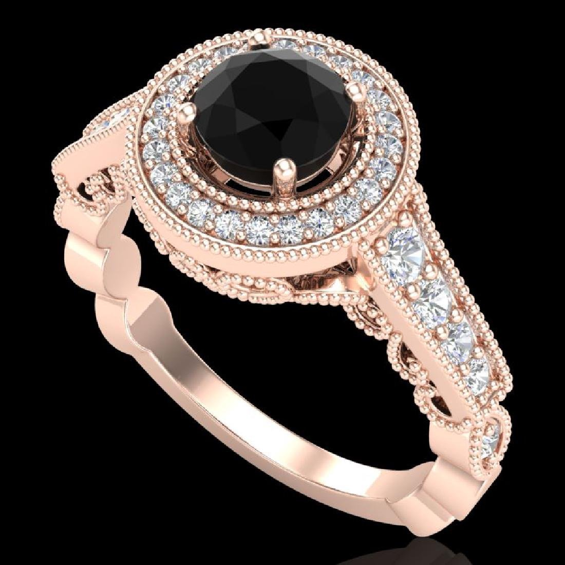 1.12 CTW Fancy Black Diamond Solitaire Engagment Art