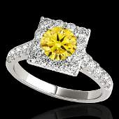 2 CTW Certified SI Fancy Intense Yellow Diamond