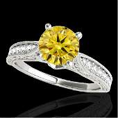 150 CTW Certified SI Intense Yellow Diamond Solitaire