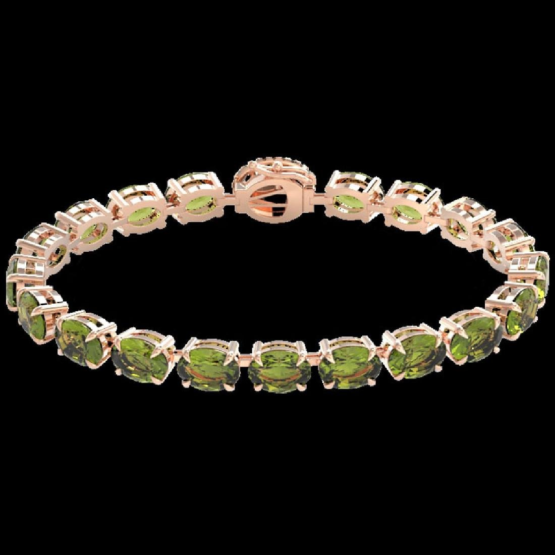 17.25 CTW Green Tourmaline & VS/SI Diamond Tennis Micro - 2