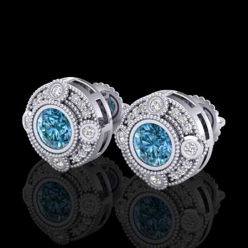 art wave cluster color earring cz drop deco style stud earrings pin emerald
