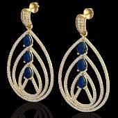 4 CTW Sapphire & Micro Pave VS/SI Diamond Designer